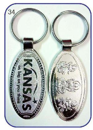 34 Metal Keychain