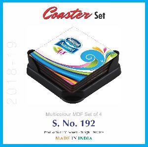 MDF Coaster Set 03