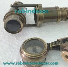 Leather Cane Brass with Telescope