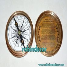 Marine Compass Poem Pocket