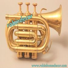 Showpiece Brass Pocket Trumpet