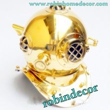 solid brass diving helmet