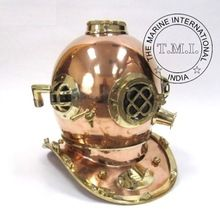 COPPER and BRASS DIVER'S HELMET