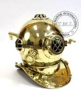 NAUTICAL BRASS DIVER'S HELMET