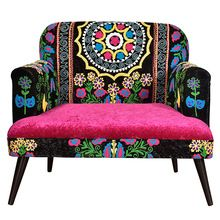Embroidery Living Room Sofa