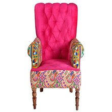 Embroidery Living Room Sofa Arm Chair