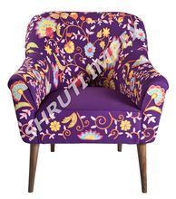 Embroidery Sofa Arm Chair