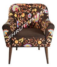 Embroidery Upholstery Arm Chair