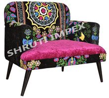 Embroidery Vintage Arm sofa chair