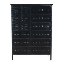 Industrial Iron Metal Chest of Drawers Tool Cabinet