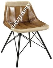 Iron Pure Leather Dining Chair