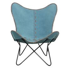 Leather Corner Butterfly Chair
