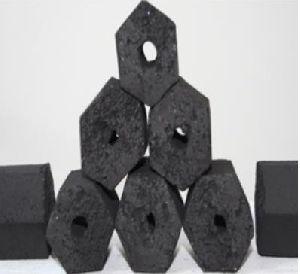 Coconut Shell Briquette Hexagonal