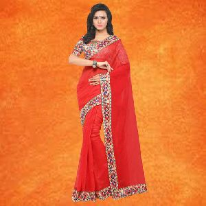 Chanderi Plain Sarees