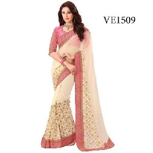 Georgette Silk Plain Sarees