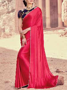 Satin Plain Sarees