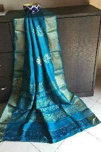 Tussar Silk Plain Sarees