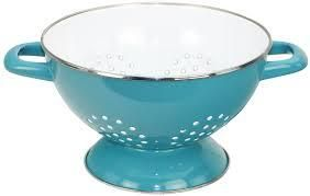 Blue Stainless Steel Colander