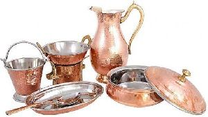 Royal Copper Steel Dinner Set
