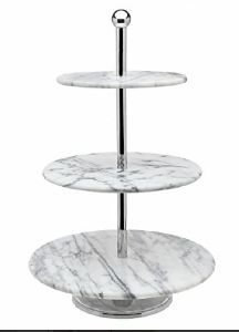 Marble Three Tier Cake Stand