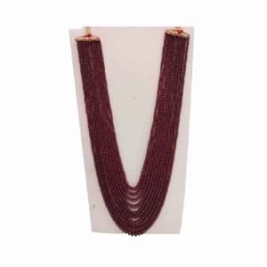 Natural Ruby Gemstone Roundel Stone Beads 10 Strings Necklace