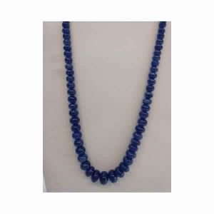 Natural Tanzanite 17 MM Plain Hand Polished Stone Beads Necklace