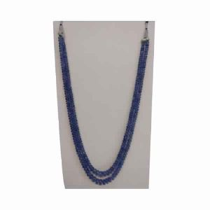 Natural Tanzanite Gemstone Roundel Beads 2 Strings Stone Necklace