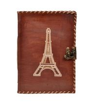 Eiffel Tower Leather Journal Notebook