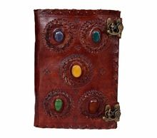 Embossed Leather Five Stone Journal Leather Note Book