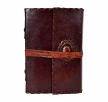 Leather Journal Flap On Stone Book