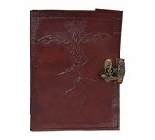 Leather Journal Wicca Diary