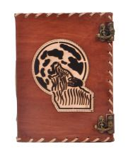 Moon Wolf Leather Journal Notebook