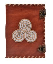 Triskele Leather Journal Notebook