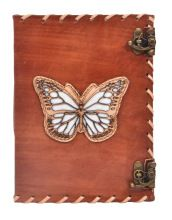 Unlined Paper Leather Journal Notebook