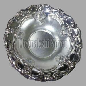 Silver Dish Plate 12