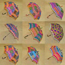 Embroidered Patchwork Umbrella