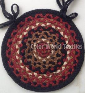Round Cotton Braided Chairpad