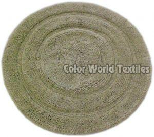 Round Embossed Bath Mat