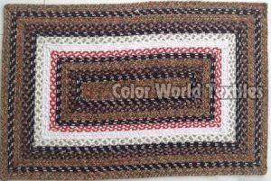 Tonal Rectangular Braided Mat