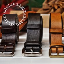 Brown Handmade Smooth Leather belts
