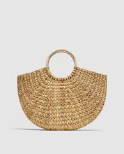Hand Crafted Clutch Straw Bag