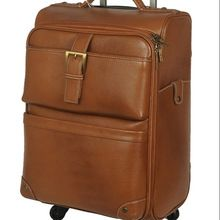 leather vintage style luggage bag