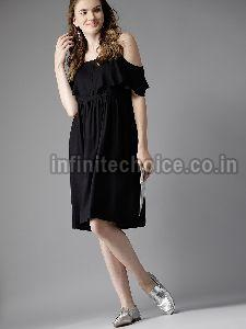 Ladies Black One Piece Dress