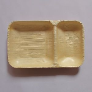 Areca Leaf Rectangle 2CP Plate