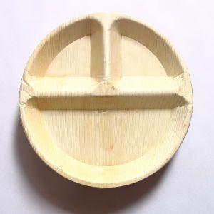 Areca Leaf Round 3CP Plate