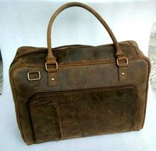 Grain Distressed Leather Travel Bag