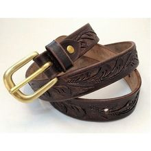 HandMade Engraved Leather Belt