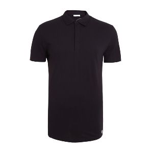 Men Black Polo T-shirt