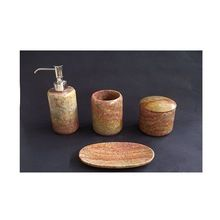 Brown Marble Bathroom Set