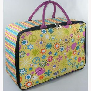 Custom Printed Canvas Toy Suitcase